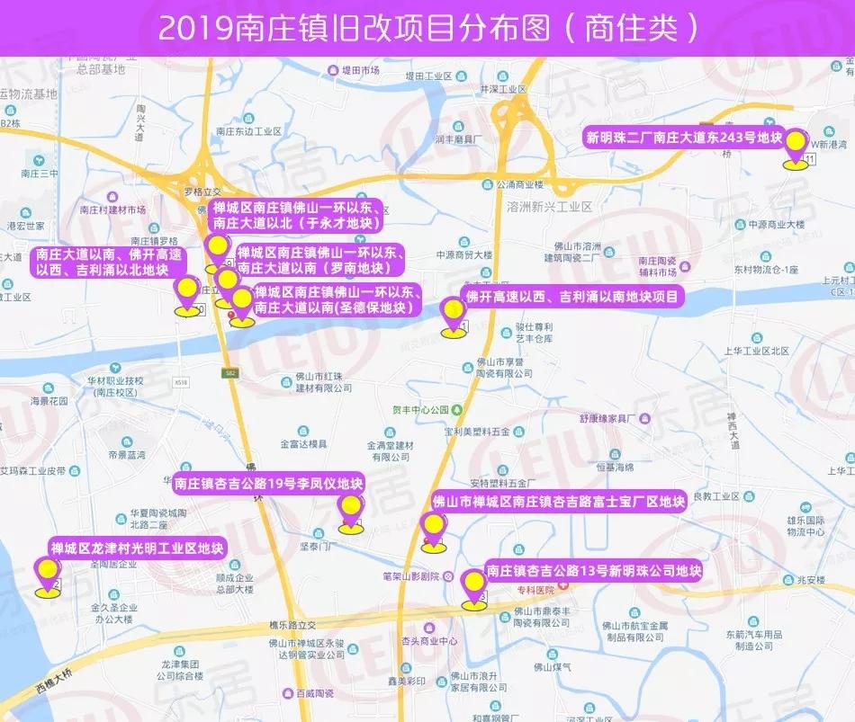 佛山市张槎镇地图
